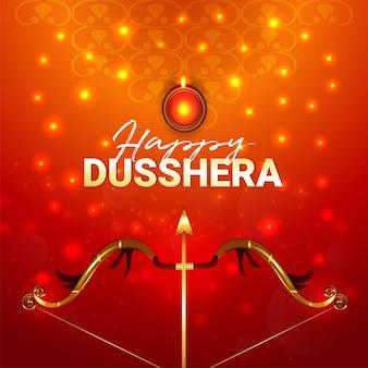 Creatief ontwerp van gelukkige dussehra-vieringskaart