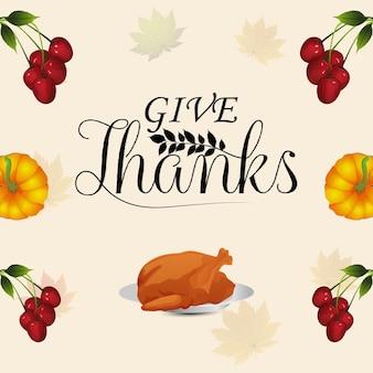 Creatief ontwerp van thanksgiving day-wenskaart