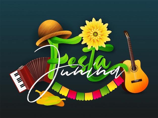 Creatief ontwerp voor festa junina-feest