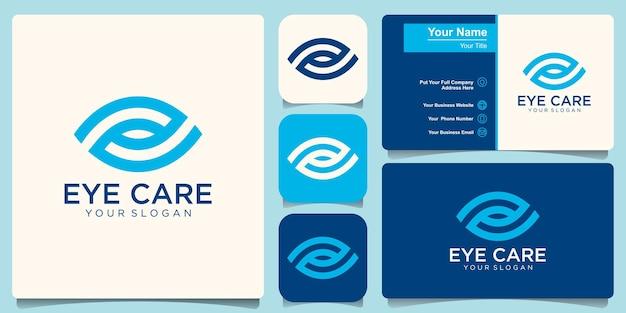 Creatief oog concept logo ontwerpsjabloon