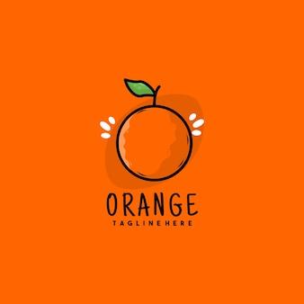 Creatief oranje illustratie logo ontwerp