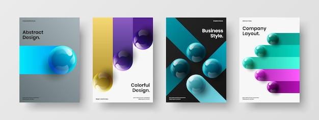 Creatief pamflet a4 ontwerp vector sjabloon collectie