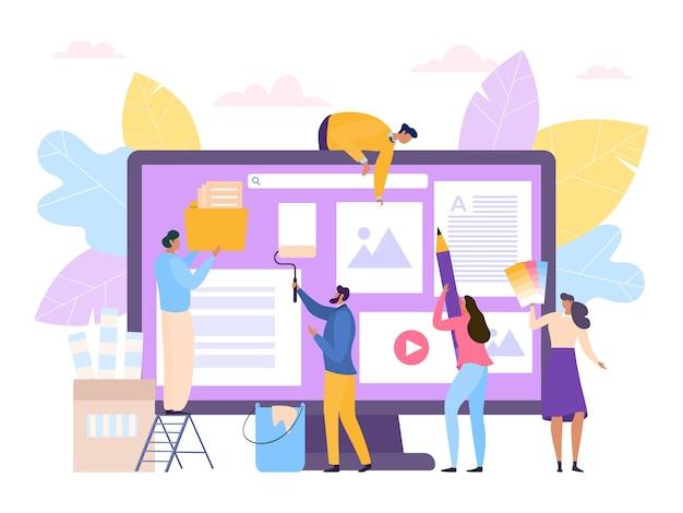 Creatief plat web ontwerpconcept