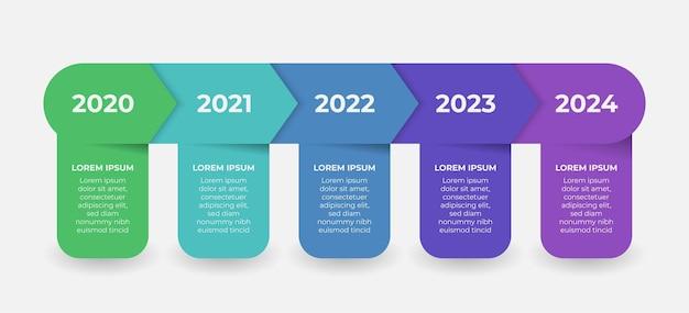 Creatief presentatielabelontwerp voor infographics in 5 stappen