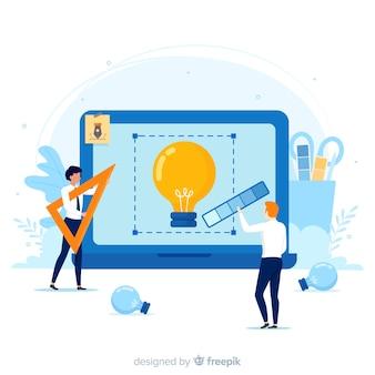 Creatief proces van grafische ontwerpers