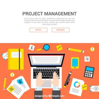 Creatief projectmanagementconcept in vlakke stijl