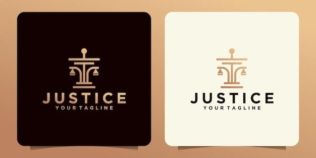 Creatief rechtvaardigheidswet logo sjabloonontwerp