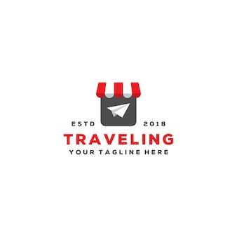 Creatief reisagent logo-ontwerp