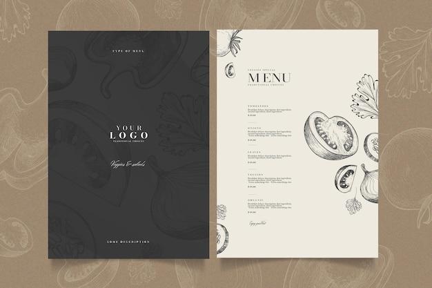 Creatief restaurant menusjabloon