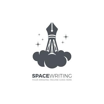 Creatief schrijf logo sjabloon