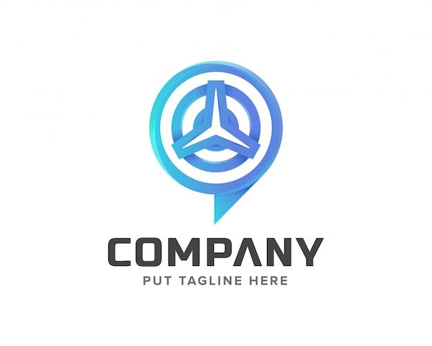 Creatief sjabloon signaal volgen en auto logo ontwerp