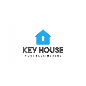 Creatief sleutelhuis premium logo-ontwerp