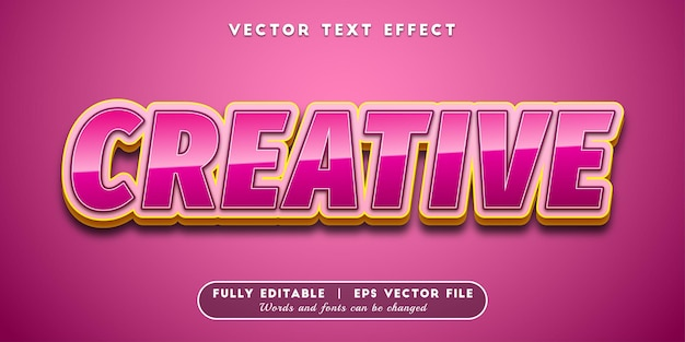 Creatief teksteffect, bewerkbare tekststijl