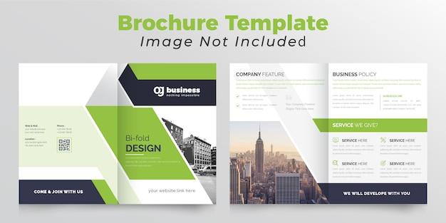 Creatief tweevoudig bedrijfsbrochuremalplaatje