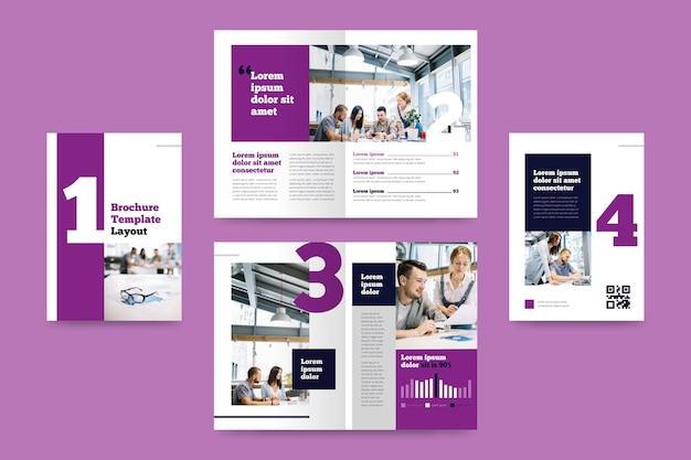 Creatief tweevoudig brochuremalplaatje met beeld
