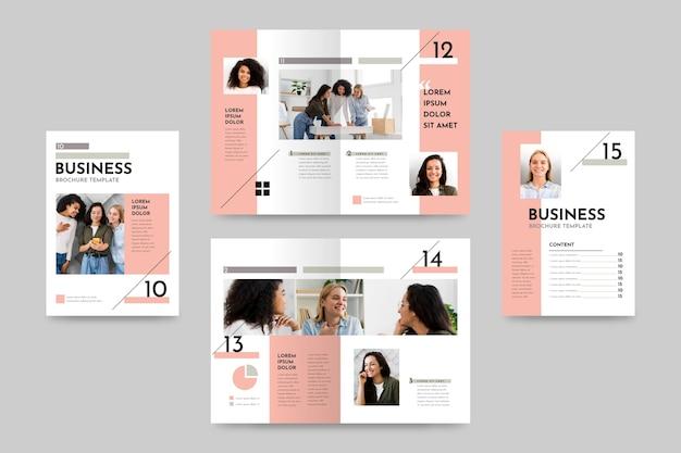 Creatief tweevoudig brochuremalplaatje