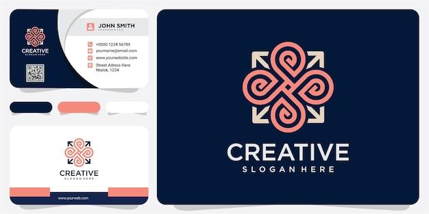 Creatief van punt gemeenschap logo ontwerpconcept. lijn pijl logo ontwerp inspiraties
