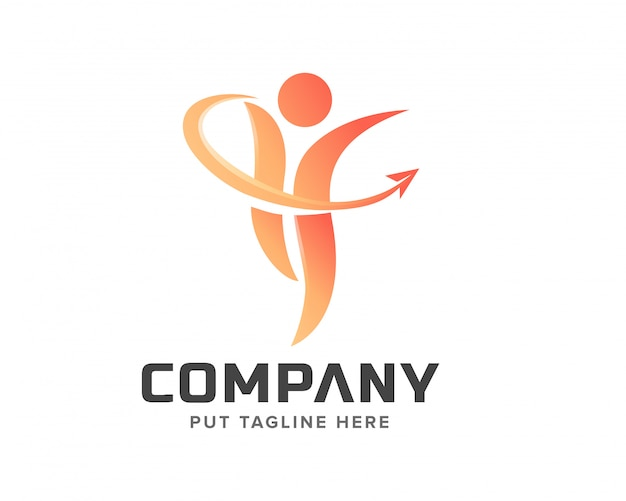 Creatief verhogen mensen logo
