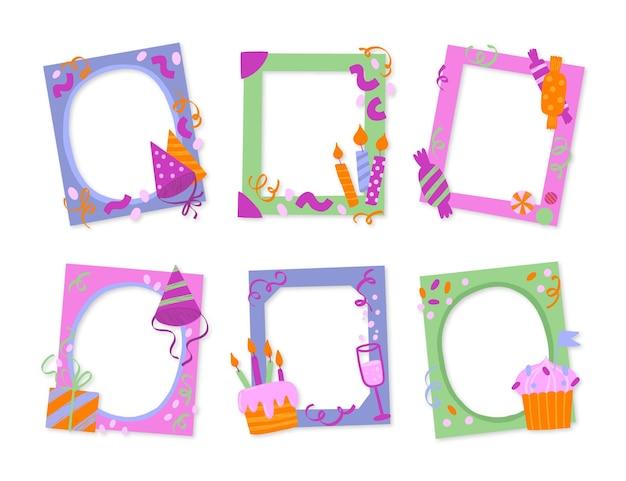 Creatief verjaardagscollage-framepakket