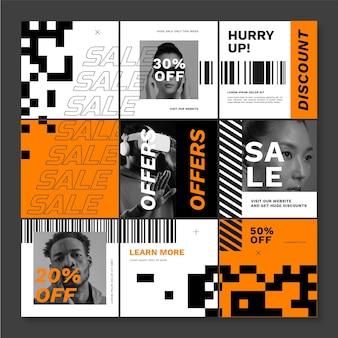 Creatief verkoop instagram-raster