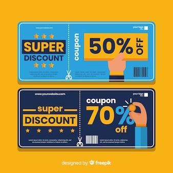 Creatief verkoopconcept met coupon