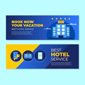Creatief verloop hotel sjabloon voor spandoek met foto