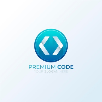 Creatief verloopcode-logo