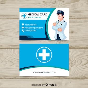 Creatief visitekaartje met medisch concept