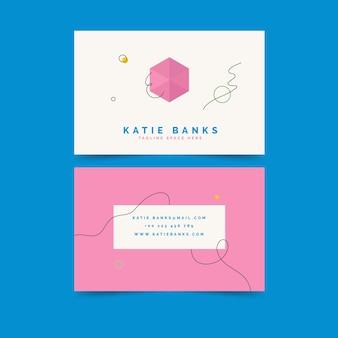 Creatief visitekaartje minimaal ontwerp