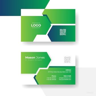 Creatief visitekaartje ontwerp