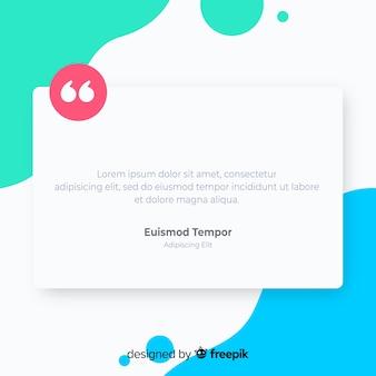 Creatief web testimonial concept