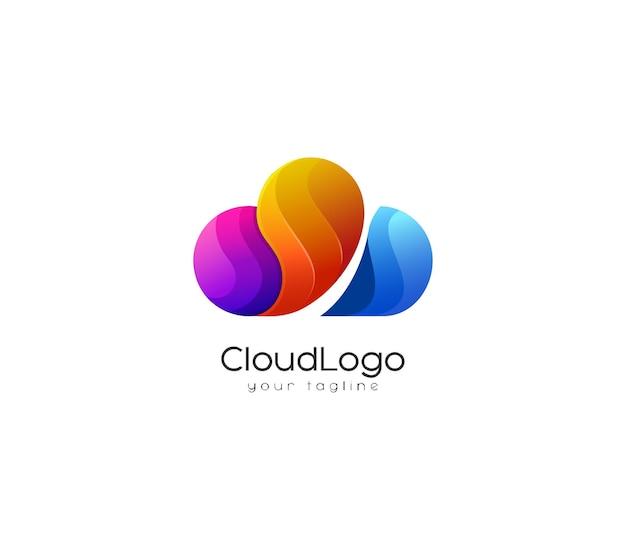 Creatief wolk logo-ontwerp