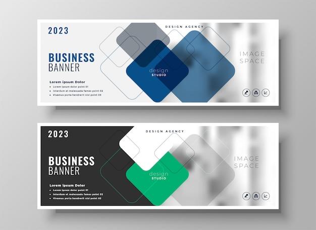 Creatief zakelijk bedrijf banners ontwerp