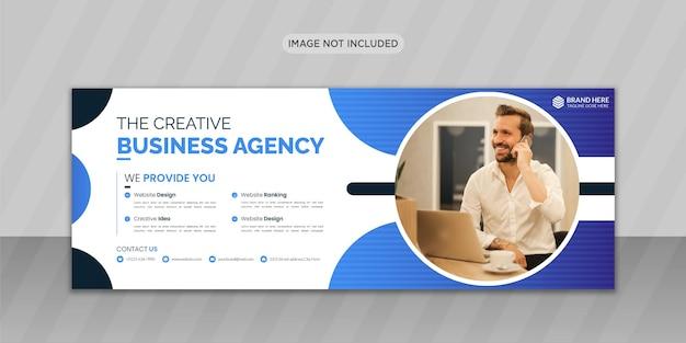 Creatief zakelijk bureau facebook-omslagfoto-ontwerp of webbannerontwerp