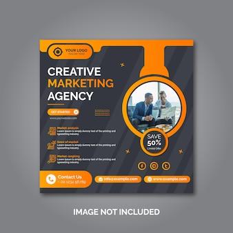 Creatief zakelijk marketing social media postsjabloon