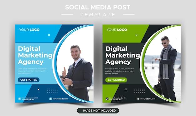 Creatief zakelijk marketingbureau instagram postsjabloon
