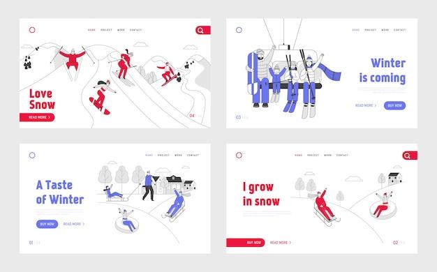 Creatief zakelijk team en partnerschapsovereenkomst handshaking bestemmingspagina-set
