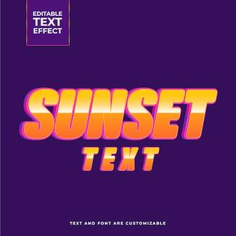 Creatief zonsondergang teksteffect