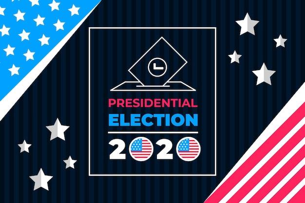 Creatieve 2020 presidentsverkiezingen in de vs behang