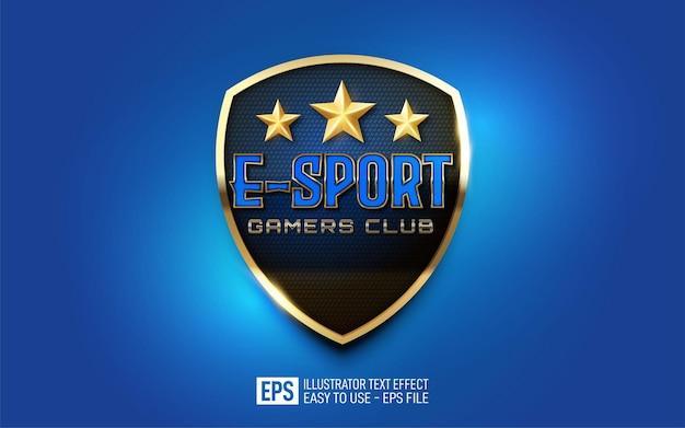 Creatieve 3d e-sport gamers club bewerkbare stijleffectsjabloon