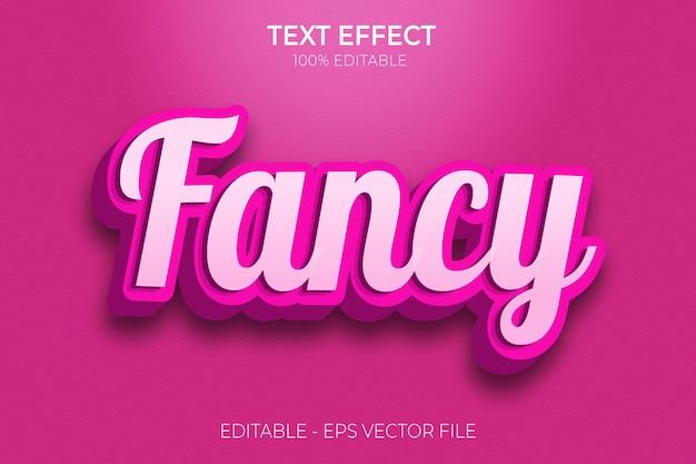 Creatieve 3d fancy bewerkbare teksteffecten roze en glanzende premium vector Premium Vector