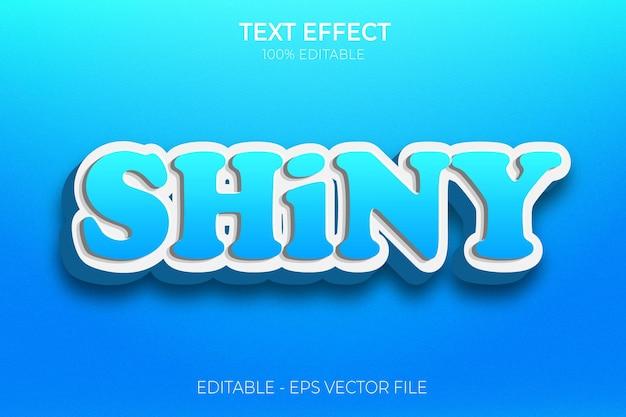 Creatieve 3d glanzende vetgedrukte teksteffect premium vector