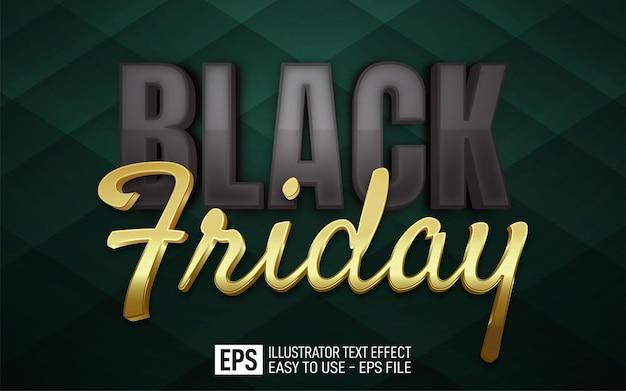 Creatieve 3d-tekst black friday bewerkbare stijleffectsjabloon