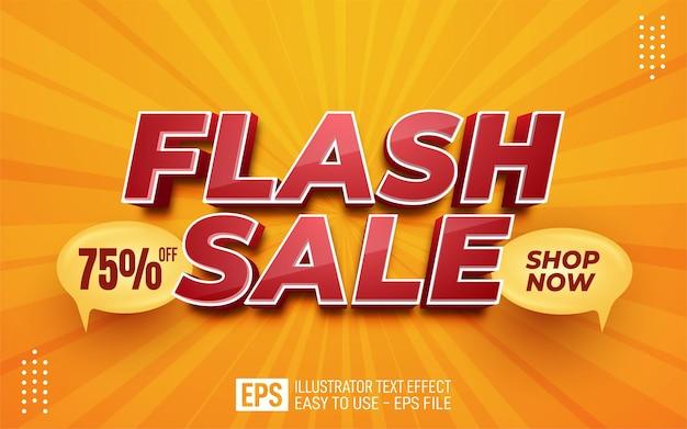 Creatieve 3d-tekst flash sale, bewerkbare stijleffectsjabloon