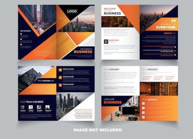 Creatieve 8 pagina creatieve tweevoudige brochure sjabloon ontwerp premium