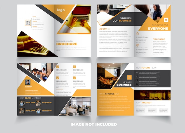 Creatieve 8-pagina tweevoudige brochure sjabloon