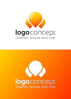 Creatieve abstracte logo ontwerpsjabloon.