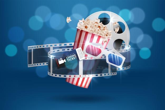 Creatieve achtergrond voor bioscoop