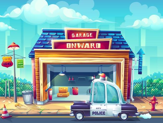 Creatieve afbeelding afbeelding politie auto illustratie