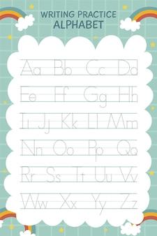 Creatieve alfabet traceringssjabloon